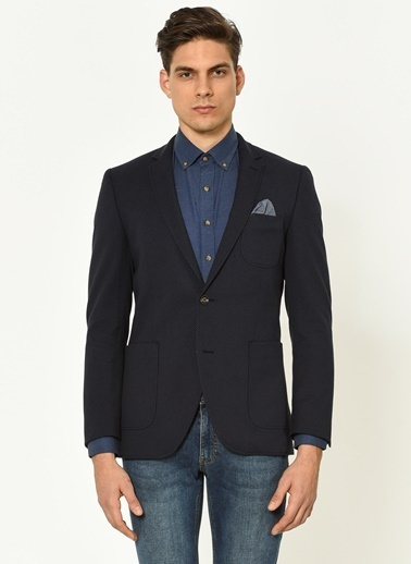 Beymen Business Cep Detaylı Blazer Ceket Lacivert
